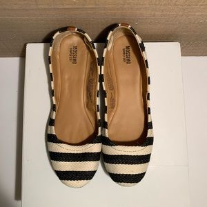 Mossimo Supply Co striped ballet flats
